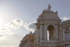 Stara opera i teatr baletowy w Europa, Ukraina, Odessa, Zdjęcia Stock