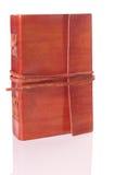 Stara skóry książka obraz stock