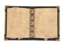 Stara otwarta książka w steampunk stylu na odosobnionym białym tle ilustracja 3 d Zdjęcia Royalty Free