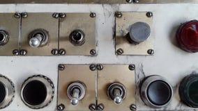 Stara płaska deska rozdzielcza i pulpit operatora w użyciu zdjęcie wideo
