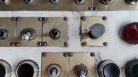 Stara płaska deska rozdzielcza i pulpit operatora w użyciu zbiory wideo