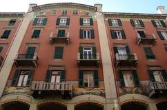 Stara pałac fasada - Savona, Liguria, Włochy Zdjęcie Stock