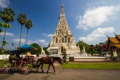 Stara pagoda w Wacie Chedi Liam przy Wiang Kum Kam, Chiang Mai zdjęcia royalty free