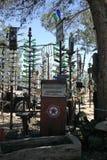 Stara paliwowa pompa przy Elmer butelki drzewa rancho Obrazy Royalty Free