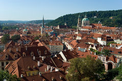 stara panorama Prague Obraz Stock