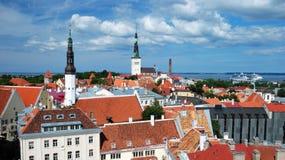 stara panorama Tallinn Obrazy Stock