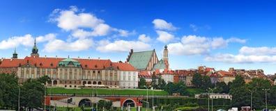 stara panorama Warsaw Obraz Stock