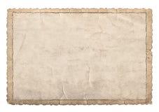 Stara papier rama z rzeźbić krawędziami dla fotografii i obrazków Obrazy Stock