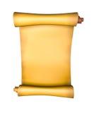 stara papierowa pergaminowa ślimacznica Fotografia Royalty Free