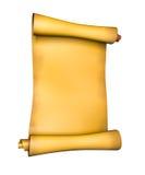stara papierowa pergaminowa ślimacznica Zdjęcie Stock