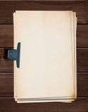 Stara papierowa sterta. obraz stock