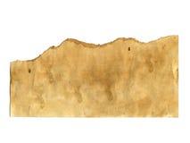 Stara papierowa tekstura na białym tle Zdjęcie Stock