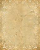 stara papieru wzoru róży tekstura Obrazy Royalty Free
