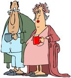 Stara para ma ich ranek kawę zdjęcie stock