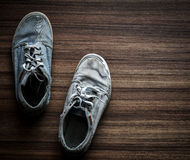 Stara para nastoletni buty Fotografia Stock