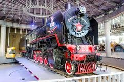 stara para pociąg Rosja, Petersburg, 02 2017 Listopad Obraz Royalty Free