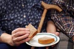 stara para Ubóstwo i chleb Obraz Royalty Free