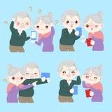 Stara para z Alzheimer ilustracja wektor