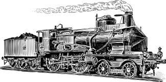 Stara parowa lokomotywa Fotografia Stock