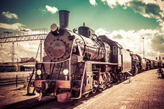 Stara parowa lokomotywa Fotografia Royalty Free