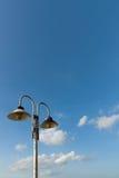 Stara pary żelaza lampa na słupie obrazy stock