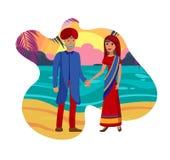 Stara pary małżeńskiej, męża i żony ilustracja, ilustracji
