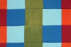 Stara patchwork tekstura Zdjęcia Royalty Free