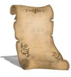 stara pergaminowa dekoracji zwoju royalty ilustracja