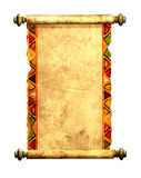 stara pergaminowa zwój 3 d Obraz Stock