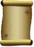 Stara pergaminowego papieru ślimacznica. Obrazy Royalty Free