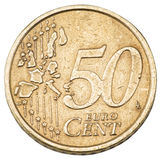 Stara pięćdziesiąt centów euro moneta Zdjęcia Royalty Free