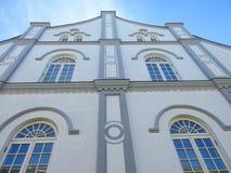 Stara piękna żyd synagoga ściana Lithuania zdjęcie stock