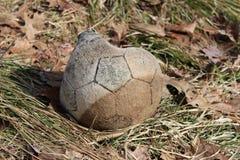 Stara piłki nożnej piłka Fotografia Royalty Free