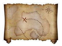 Stara pirata skarbu mapy ślimacznica Fotografia Royalty Free