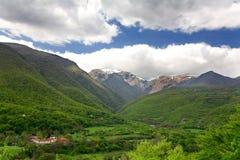 Stara planina mountain. Narrow gorge of Biala reka river in Stara planina mountain in Bulgaria stock photography
