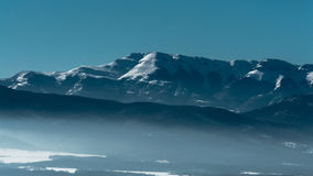 Stara planina. This is a mountain top from the longest mountain chain in Bulgaria - Stara planina. During winter there are lots of places to practice winter royalty free stock image