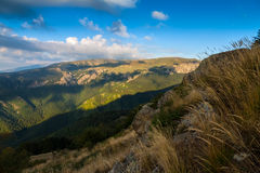 Stara Planina. Sunspots on the ridge of Stara Planina, Bulgaria Stock Images