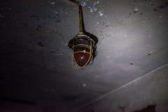 Stara plenerowa lampa, ciie out zdjęcie stock