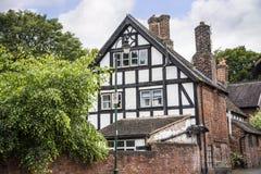 Stara połówka Cembrował budynek w targowym miasteczku Sandbach Anglia Obrazy Stock