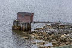 Stara połów scena na wodzie, Fogo wyspa Fotografia Royalty Free