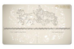 stara pocztówka royalty ilustracja