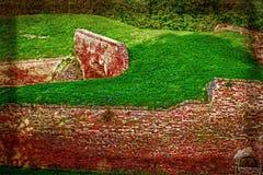 Stara pocztówka z Petrovaradin fortecą w Novi Sad, Serbia 7 Fotografia Royalty Free
