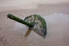Stara poczta na plaży Zdjęcia Royalty Free