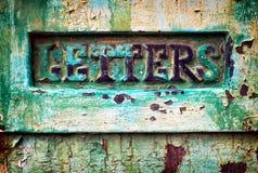 Stara poczta szczelina Fotografia Royalty Free