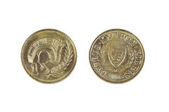 Cypr jeden cent obraz stock