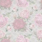 Stara podława róży koronki wzoru tapeta Fotografia Royalty Free