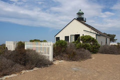 Stara point loma latarnia morska Zdjęcia Stock