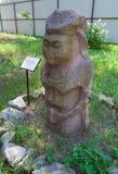 Stara polotsk kobiety kamienia statua zdjęcie royalty free