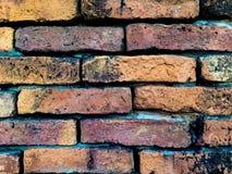 Stara Pomarańczowa ściana z cegieł wzoru tekstura Fotografia Stock