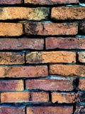 Stara Pomarańczowa ściana z cegieł wzoru tekstura Obraz Stock